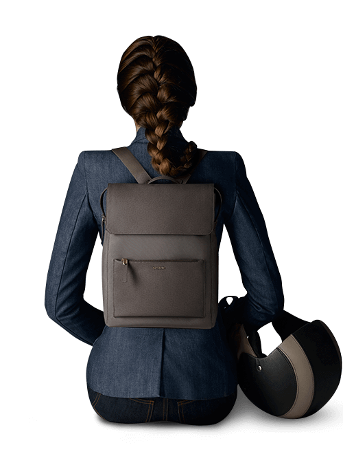 Zalia rectangular backpack 14.1""