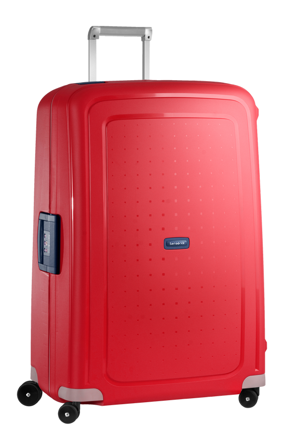 Samsonite S'Cure Spinner 81cm Crimson Red/Dark Blue