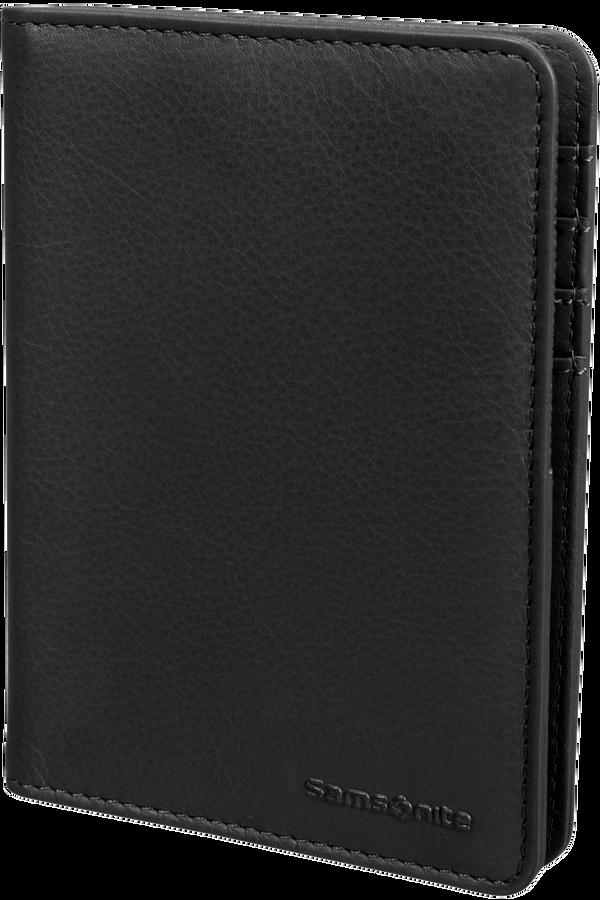 Samsonite Global Ta ID Leather Passport Cover  Zwart