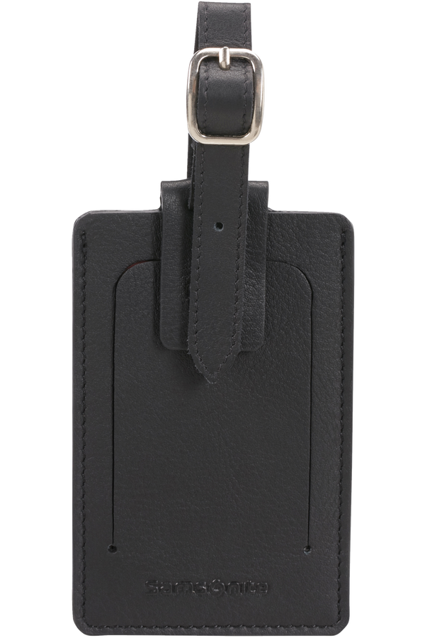 Samsonite Global Ta ID Leather Luggage Tag Zwart