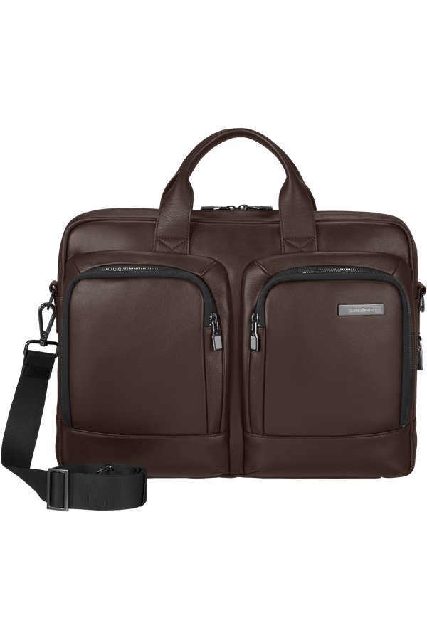 Samsonite Safton Lth Laptop Bailhandle  15.6inch Bruin