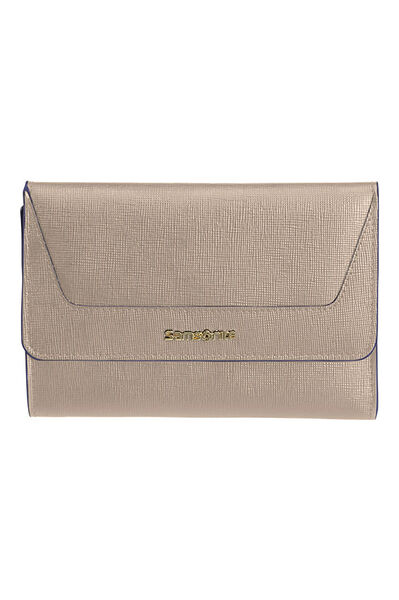 Lady Saffiano II SLG Portefeuille Gris chaud