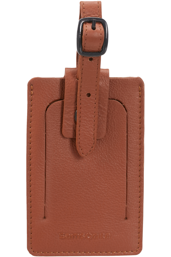 Samsonite Global Ta ID Leather Luggage Tag Cognac
