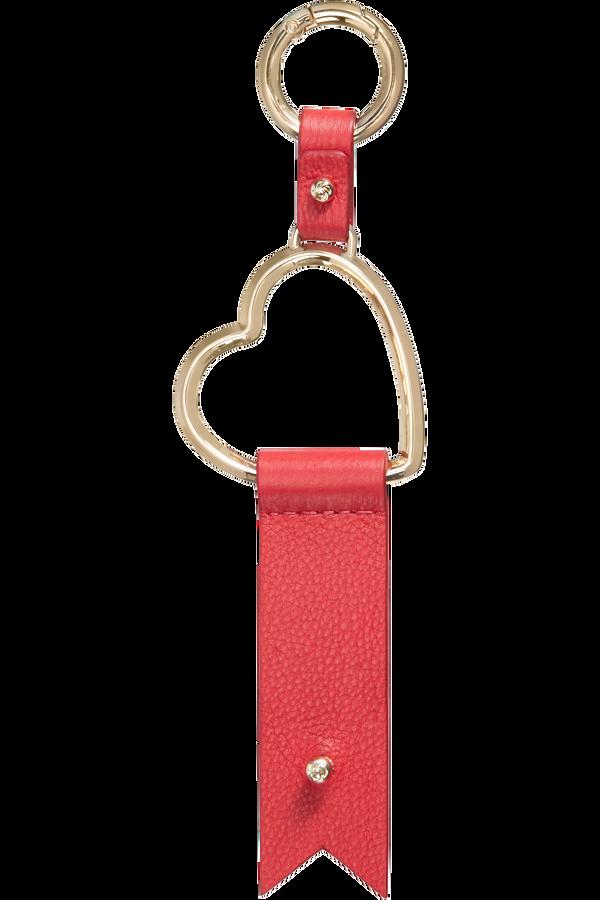 Samsonite Lady Charmy Heart Key Ring  Rouge