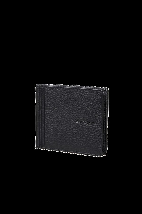 Samsonite Double Leather Slg 001 - B S 6CC+2C  Zwart