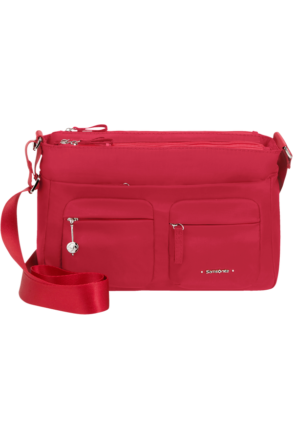 Samsonite Move 3.0 Horizontal Shoulder Bag + Flap  Rouge cerise