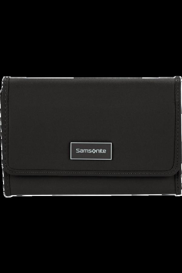 Samsonite Karissa Slg Wallet 12CC+ZIP EXT M  Zwart