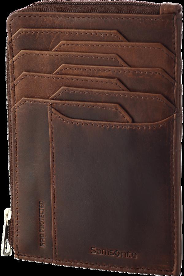 Samsonite Oleo Slg 727-All in One Wallet Zip  Marron foncé