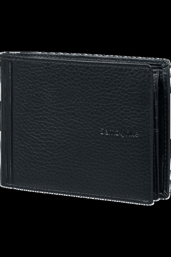 Samsonite Double Leather Slg 007 - B 7CC+VFL+C+2C+W  Zwart