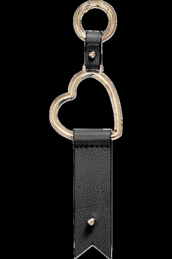 Samsonite Lady Charmy Heart Key Ring  Zwart