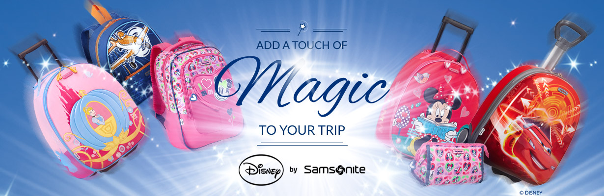 Add a Touch of Magic to your Trip   Disney by Samsonite