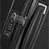 Verzonken handvatten, TSA-slot® en ergonomisch, soft touch gevormde trekstang.