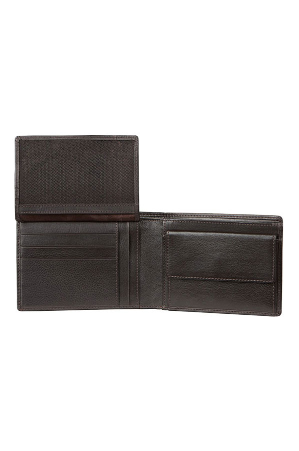 Samsonite Portemonnee.Samsonite Success Slg Billfold 7cc Vflap Coin 2c W Zwart